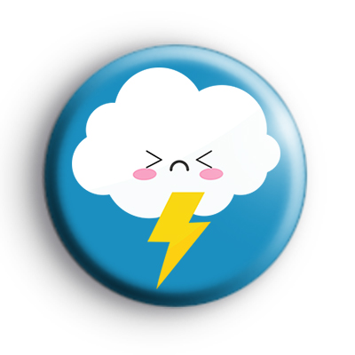 Thunder and Lightning Cloud Badge