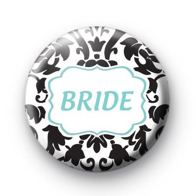 Custom Bride Badge Blue