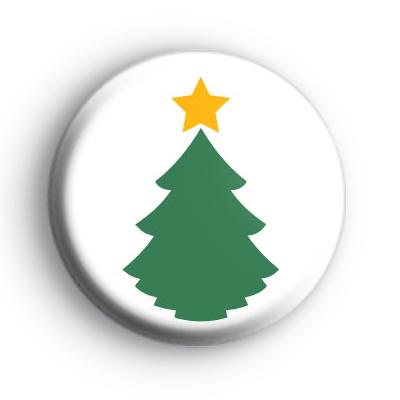 Traditional Green Christmas Tree Badge