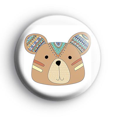 Tribal Pattern Bear Badge