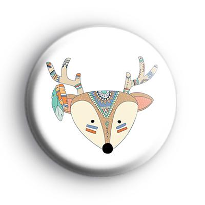 Tribal Pattern Deer Badge