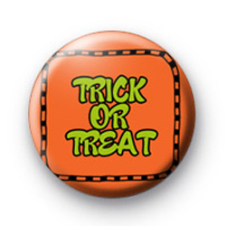 Trick or Treat Orange Badge