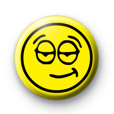 Unimpressed Yellow Face Badge