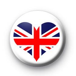 Union Jack Heart Badges