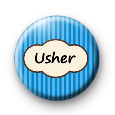 Bright Blue Stripey Usher Badge