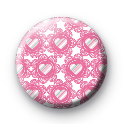 Valentines Heart Lace Pattern badge