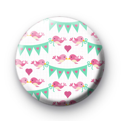 Valentines Bird Bunting Badges