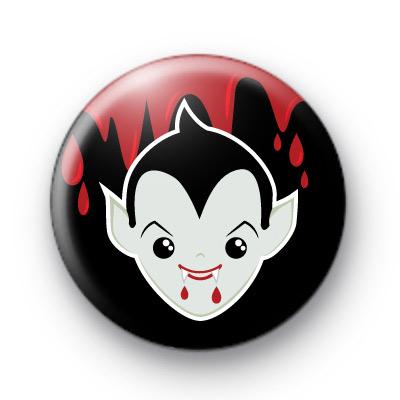 Dracula Vampire Pin Button Badges