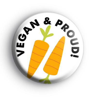 Vegan and Proud Carrot Badge