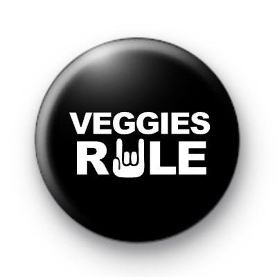 Veggies Rule Button Badges