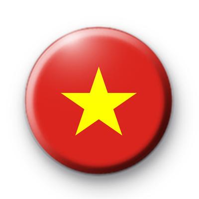 Vietnam Flag Button Badge