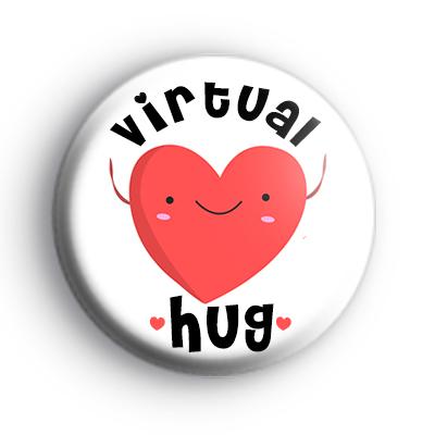 Virtual Hug Button Badge