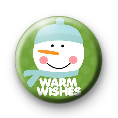 Warm Wishes Snowman 3 Button Badges