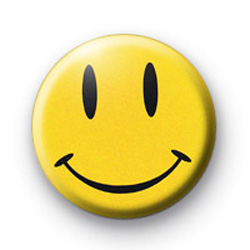 Yellow Watchmen Smiley Face badges