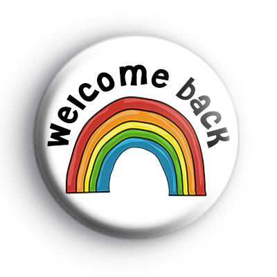 Welcome Back Rainbow Badge