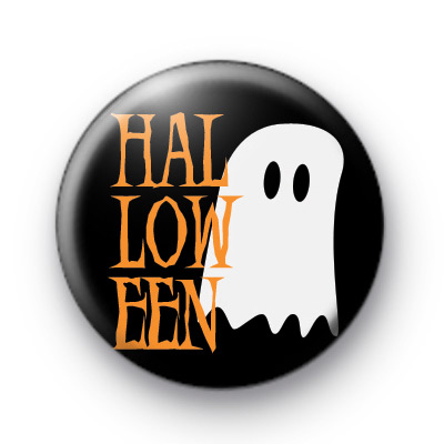 White Halloween Spooky Ghost Badges
