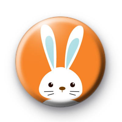 Orange & White Easter Bunny Badges