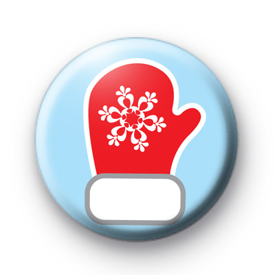 Winter Mittens Button Badge