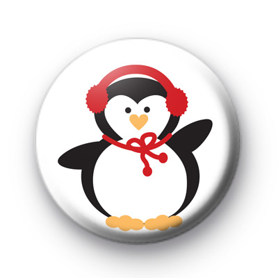 Winter Festive Penguin Badge