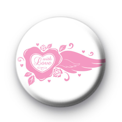 Pink With LOVE Pin Badge