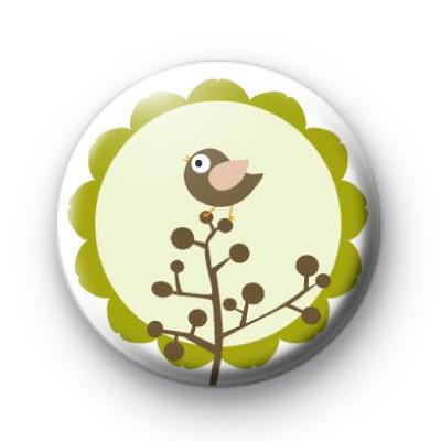 Cute Green Woodland Bird Badges