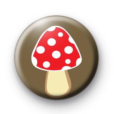 Woodland Mushroom Button Badge