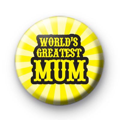 Worlds Greatest Mum Pin Badge