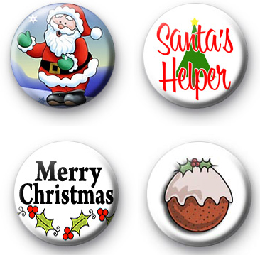 Xmas Santa Badge Pack