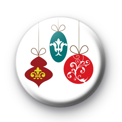 Xmas Decorations 25mm Button Badge