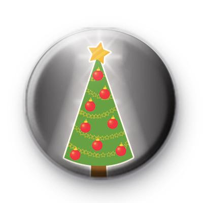 Xmas Tree Bright Star Badge