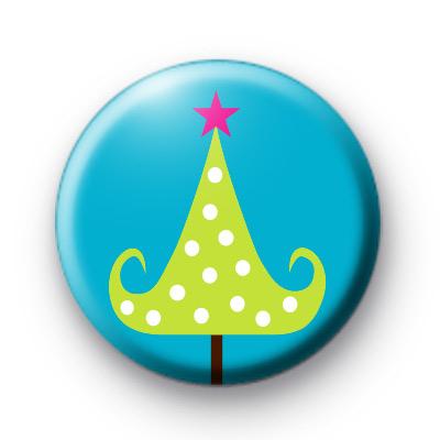 Pink Star Xmas Tree Badges