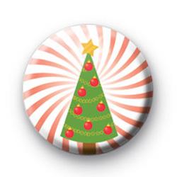 Xmas Tree Red Spiral badge