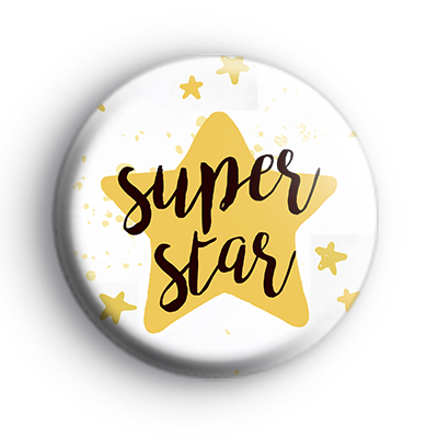 Gold and Black Superstar Badge