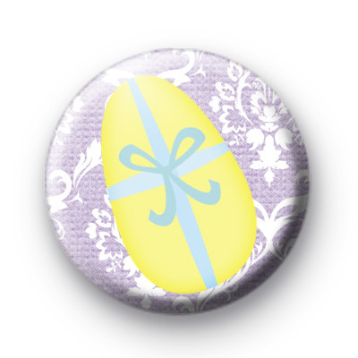 Yellow and Purple Easter Egg Badge