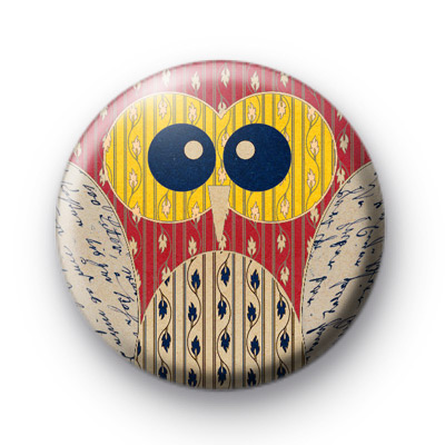 Yellow eyed owl badge