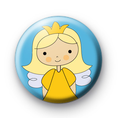Sweet Yellow Fairy Badges