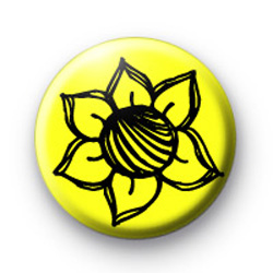 Yellow and Black Flower badges