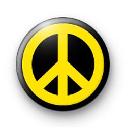 Yellow Peace Badge