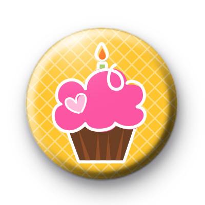 Yellow & Pink Cupcake Badge