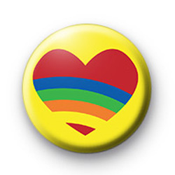 Red Rainbow Heart badge