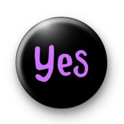 Purple Yes badges