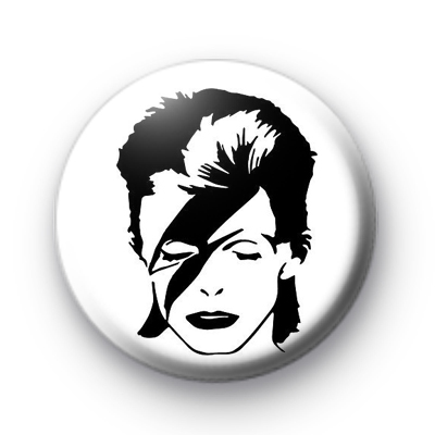 Ziggy Stardust Black and white badge