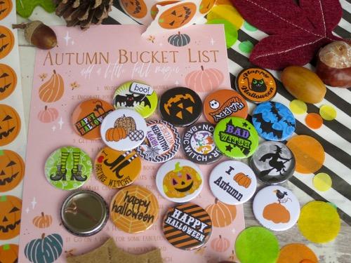 Halloween Button Badges