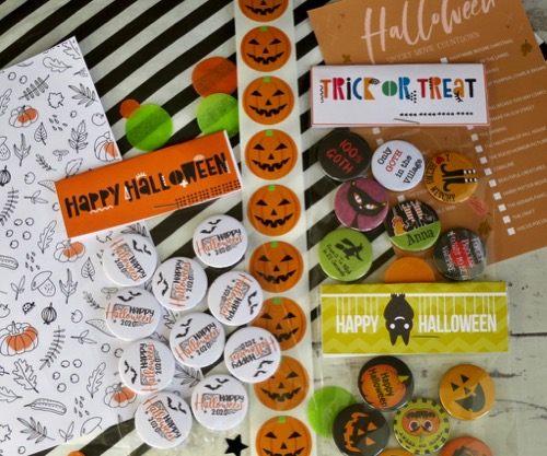 Happy halloween hand made button badges