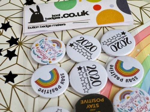 Positive vibes badges