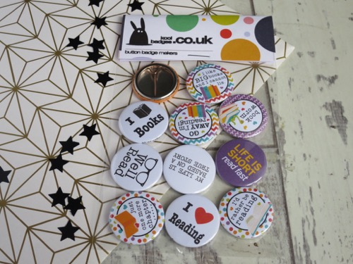 Reading & bibliophile badges for a school library