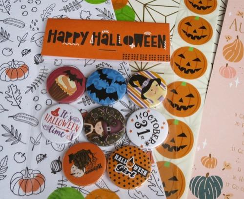 Spooky halloween badges