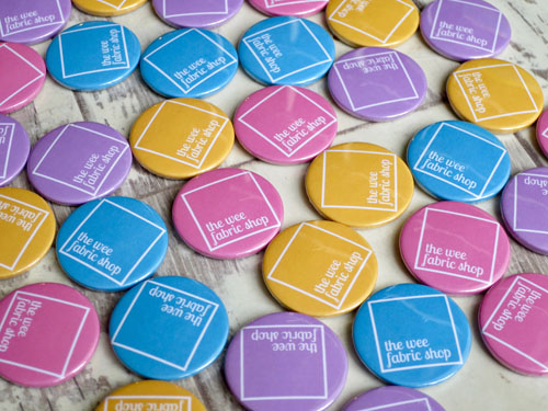 The Wee Fabric Shop custom badges